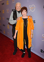LOS ANGELES, CA - OCTOBER 04: Actors Lyle Waggoner (L) and Vicki Lawrence attend the CBS' 'The Carol Burnett Show 50th Anniversary Special' at CBS Televison City on October 4, 2017 in Los Angeles, California.<br /> CAP/ROT/TM<br /> &copy;TM/ROT/Capital Pictures