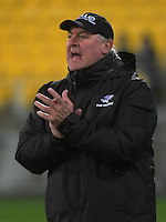 Sharks coach Gary Gold during the Super Rugby quarterfinal match between the Hurricanes and Sharks at Westpac Stadium, Wellington, New Zealand on Saturday, 23 July 2016. Photo: Dave Lintott / lintottphoto.co.nz