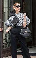 July 6 2017, PARIS FRANCE Singer Celine Dion leaves the Royal Monceau Hotel on Avenue Hoche