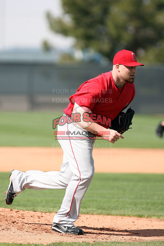 Sean O'Sullivan. Los Angeles Angels spring training workouts at the Angels complex, Tempe, AZ - 02/24/2010.Photo by:  Bill Mitchell/Four Seam Images.