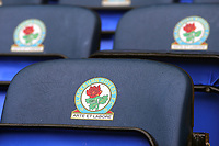 A general view of the dugout seats featuring the Blackburn Rovers club emblem at Ewood Park<br /> <br /> Photographer Rich Linley/CameraSport<br /> <br /> The EFL Sky Bet Championship - Blackburn Rovers v Preston North End - Saturday 9th March 2019 - Ewood Park - Blackburn<br /> <br /> World Copyright © 2019 CameraSport. All rights reserved. 43 Linden Ave. Countesthorpe. Leicester. England. LE8 5PG - Tel: +44 (0) 116 277 4147 - admin@camerasport.com - www.camerasport.com