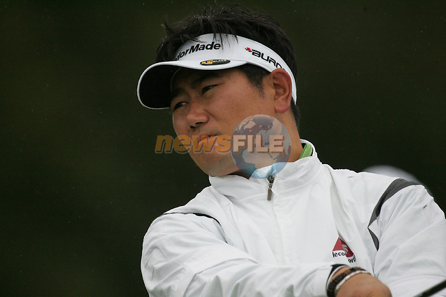 Y E Yang tees off on the 1st hole to start his first round of the Smurfit Kappa European Open at The K Club, Strffan,Co.Kildare, Ireland 5th July 2007 (Photo by Eoin Clarke/NEWSFILE)
