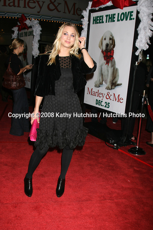 "Kaley Cuoco arriving at the ""Marley & Me"" World Premiere at the Mann's Village Theater  in Westwood, CA  on December 11, 2008.©2008 Kathy Hutchins / Hutchins Photo....                ."