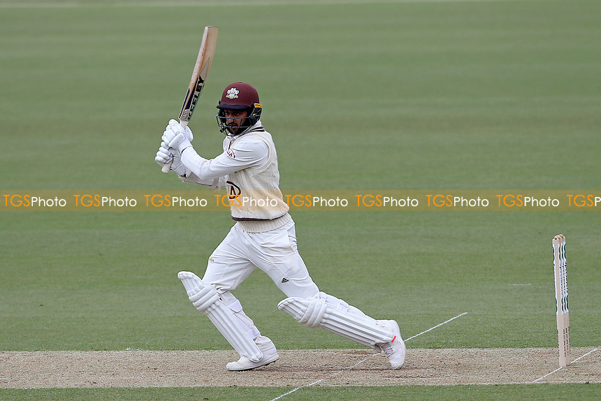 Ryan Patel hits 4 runs for Surrey during Surrey CCC vs Essex CCC, Specsavers County Championship Division 1 Cricket at the Kia Oval on 12th April 2019