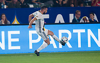 Carson, CA - Saturday August 12, 2017: Romain Alessandrini during a Major League Soccer (MLS) game between the Los Angeles Galaxy and the New York City FC at StubHub Center.