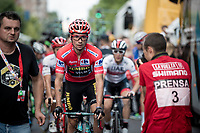 Primoz Roglic (SVK/Jumbo-Visma) at the start of teh last stage of the 2019 Vuelta<br /> <br /> Stage 21: Fuenlabrada to Madrid (107km)<br /> La Vuelta 2019<br /> <br /> ©kramon