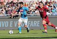 Amin Younes of Napoli  during the  italian serie a soccer match, AS Roma -  SSC Napoli       at  the Stadio Olimpico in Rome  Italy , March 31, 2019