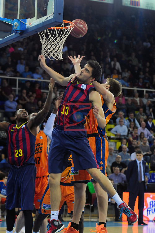 League ACB-Endesa 2014/2015 - Game: 07.<br /> FC Barcelona vs Valencia Basket Club: 76-57.<br /> Tomas Satoransky.