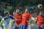 Dolenec (10), Cañellas (21), Entrerrios (2) & Maqueda (5). SPAIN vs SLOVENIA: 26-22 - Semifinal.