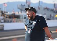 Feb 25, 2019; Chandler, AZ, USA; NHRA super gas driver Clint Fishel during the Arizona Nationals at Wild Horse Pass Motorsports Park. Mandatory Credit: Mark J. Rebilas-USA TODAY Sports