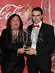 Valerie Sherlock presents the June award to Daire Rowe at the Drogheda Independent Sports Star Awards in the Westcourt Hotel.  Photo:Colin Bell/pressphotos.ie
