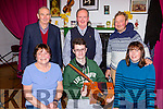 Enjoying the Beaufort Rambling House in Beufort Community Hall on Saturday night were front l-r: Eileen Daly, Keenan Daly, Sarah O'Mahony Back Michael Foley, Neil O'Sullivan and Stuart Redwood