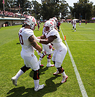 Stanford, CA - April15, 2017:  Cardinal and White Spring Game at Cagan Stadium.