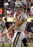 San Diego Chargers quarterback Drew Brees (9) on Sunday, September 28, 2003, in Oakland, California. The Raiders defeated the Chargers 34-31 in overtime.