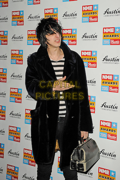LONDON, ENGLAND - FEBRUARY 18: Faris Badwan attending the NME Awards at Brixton Academy on February 18 2015 in London, England.<br /> CAP/MAR<br /> &copy; Martin Harris/Capital Pictures