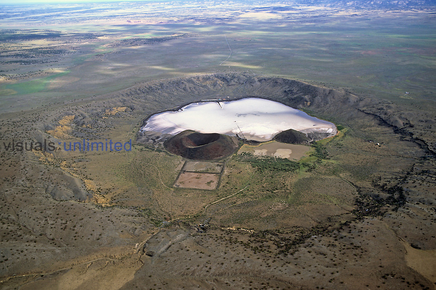 Zuni Salt Lake in a volcanic crater, Catron County, New Mexico, USA.