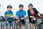 At the Na Gaeil Cycle on Saturday were Jack O'Connor, Daniel Moriarty and Sheila Moriarty
