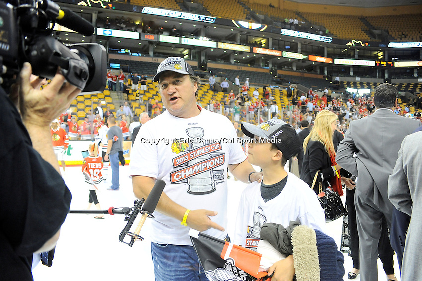 June 24, 2013 - Boston Massachusetts- during game 6 of the NHL Stanley Cup Finals between the Boston Bruins and the Chicago Blackhawks held at TD Garden in Boston Massachusetts.  Eric Canha/CSM