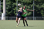 CARY, NC - JULY 20: McCall Zerboni (left) and Imani Dorsey (right). The North Carolina Courage held a training session on July 20, 2017, at WakeMed Soccer Park Field 3 in Cary, NC.