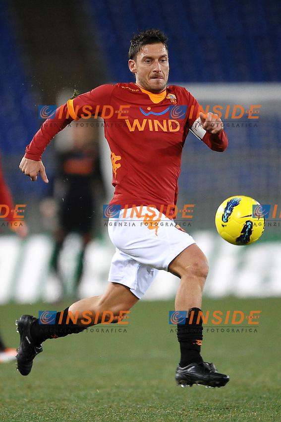 Francesco Totti Roma.Roma 11/1/2012 Stadio Olimpico.Football Calcio 2011/2012 Tim Cup coppa Italia.Roma Vs Fiorentina.Foto Insidefoto Andrea Staccioli