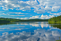 CLouds reflected in La Rivière Saint-Maurice<br />