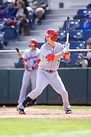Spokane Indians' Nick Urbanus #7 at bat during a game against the Everett AquaSox at Everett Memorial Stadium on June 24, 2012 in Everett, WA.  Spokane defeated Everett 11-2.  (Ronnie Allen/Four Seam Images)