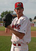 July 17, 2003:  Pitcher Brad Ziegler of the Batavia Muckdogs, Class-A affiliate of the Philadelphia Phillies, before a NY-Penn League game at Dwyer Stadium in Batavia, NY.  Photo by:  Mike Janes/Four Seam Images