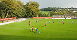Sheffield FC 1 Hallam 1, 14/10/2006. Coach and Horses Stadium, The worlds oldest derby. Hallam scored a last minute equaliser. The building on the far side of the pitch is a pub which is owned by Sheffield FC. Photo by Paul Thompson.