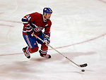 23 October 2006: Montreal Canadiens defenseman Sheldon Souray in action against the Buffalo Sabres at the Bell Centre in Montreal, Canada on October 23, 2006. The Sabres defeated the Canadiens 4-1. Mandatory photo credit: Ed Wolfstein Photo.<br />  *** Editorial Sales through Icon Sports Media *** www.iconsportsmedia.com