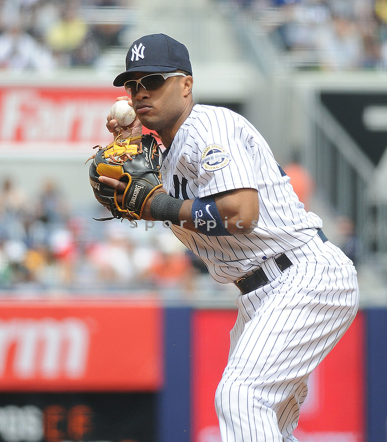 ROBINSON CANO, of the New York Yankees  in action during the Yankees  game against the Los Angeles Angels on May 2, 2009 in New York, New York  The Angels  beat the Yankees 8-4...