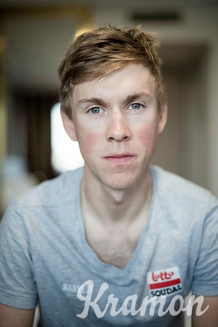 portrait of Carl Fredrik Hagen (NOR/Lotto-Soudal) in his hotel room in the morning ahead of Stage 14 of the 2019 Vuelta: from San Vicente de la Barquer to Oviedo (188km)<br /> <br /> La Vuelta 2019<br /> <br /> ©kramon