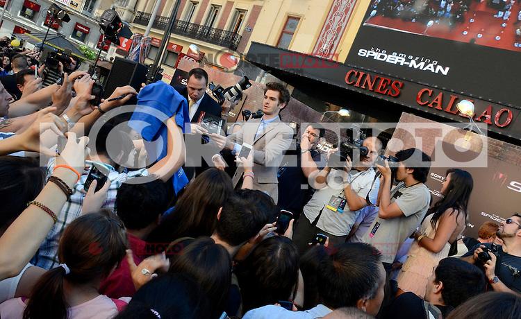 Andrew Garfield - The Amazing Spider-Man - photocall in Madrid NORTEPHOTO.COM<br /> **SOLO*VENTA*EN*MEXICO**<br /> **CREDITO*OBLIGATORIO** <br /> *No*Venta*A*Terceros*<br /> *No*Sale*So*third*