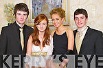 Pictured at the Gaelcholáiste Chiarraí Debs on Friday night in the Abbeygate hotel are, from left: Kealan Dowling, Niamh O'Grady, Ashling Griffin and Andrew Finn.