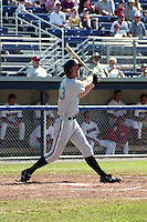 Utica Blue Sox Charlie Frazier (33) at bat during a game against the Batavia Muckdogs circa July 2001 at Dwyer Stadium in Batavia, New York.  (Mike Janes/Four Seam Images)
