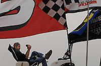 Apr 20, 2007; Avondale, AZ, USA; A fan watches Nascar Nextel Cup Series practice for the Subway Fresh Fit 500 at Phoenix International Raceway. Mandatory Credit: Mark J. Rebilas
