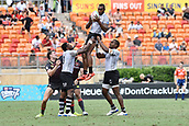 2nd February 2019, Spotless Stadium, Sydney, Australia; HSBC Sydney Rugby Sevens; England versus Fiji; Mesulame Kunavula of Fiji catches the lineout