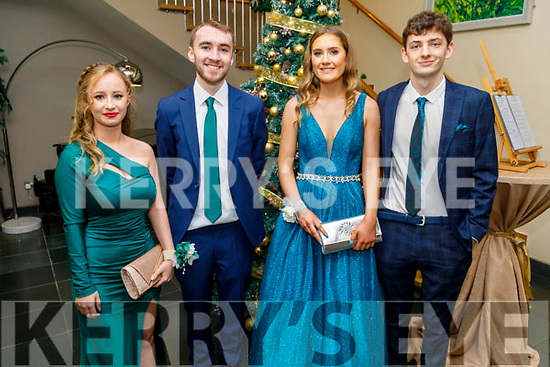 Danica Keliher, Sean Lynch, Grace Curtin and Cian Morgan attending the Gaelcoláiste Chiarraí Debs in the Ballyroe Heights Hotel on Thursday night