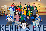 Members of Tralee Boxing Club Front l-r M.J. Burke, Christopher Mungans, Winnie  Burke, Peter Burke, Chelsea Mungans  Middle l-r Shanice Mungans, Leah Mungans, Jack Sheehan,Daniel Burke, Donnacha Brosnan, Back l-r, Patrick Walsh, Sean O'Shea, Noel Kelleher, Pat O'Shea, at their new location in Monavalley on Monday