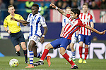 Atletico de Madrid's Augusto Fernandez (r) and Real Sociedad's Bruma during La Liga match. March 1,2016. (ALTERPHOTOS/Acero)