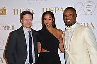 CANNES, FRANCE. May 13, 2018: Topher Grace, Laura Harrier & Corey Hawkins at the Hollywood Foreign Press Association Party at Nikki Beach at the 71st Festival de Cannes