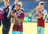 Burnley's Nahki Wells applauds the fans during a lap of the pitch<br /> <br /> Photographer Alex Dodd/CameraSport<br /> <br /> The Premier League - Burnley v Bournemouth - Sunday 13th May 2018 - Turf Moor - Burnley<br /> <br /> World Copyright &copy; 2018 CameraSport. All rights reserved. 43 Linden Ave. Countesthorpe. Leicester. England. LE8 5PG - Tel: +44 (0) 116 277 4147 - admin@camerasport.com - www.camerasport.com