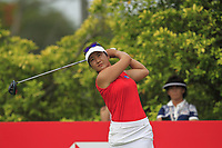 Su Oh (AUS) in action on the 3rd during Round 2 of the HSBC Womens Champions 2018 at Sentosa Golf Club on the Friday 2nd March 2018.<br /> Picture:  Thos Caffrey / www.golffile.ie<br /> <br /> All photo usage must carry mandatory copyright credit (&copy; Golffile | Thos Caffrey)