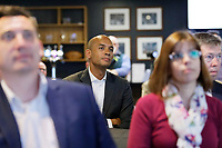 Pictured: Change UK spokesman Chuka Umunna. Monday 13 May 2019<br /> Re: Change UK, European Elections rally in Cardiff, Wales, UK.
