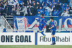 Suwon Midfielder Natanael Santos Junior (L) celebrating his score during the AFC Champions League 2017 Group G match Between Suwon Samsung Bluewings (KOR) vs Guangzhou Evergrande FC (CHN) at the Suwon World Cup Stadium on 01 March 2017 in Suwon, South Korea. Photo by Victor Fraile / Power Sport Images