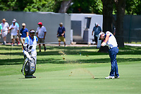 Nick Taylor (CAN) hits his approach shot on 9 during round 2 of the Dean &amp; Deluca Invitational, at The Colonial, Ft. Worth, Texas, USA. 5/26/2017.<br /> Picture: Golffile | Ken Murray<br /> <br /> <br /> All photo usage must carry mandatory copyright credit (&copy; Golffile | Ken Murray)