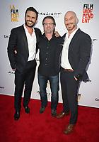 "17 June 2017 - Culver City, California - Juan Pablo Raba, Ric Roman Waugh, Matt Gerald. ""Shot Caller"" Premiere during the 2017 Los Angeles Film Festival. Photo Credit: F. Sadou/AdMedia"