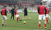 Fleetwood Town's Ross Wallace during the pre-match warm-up <br /> <br /> Photographer Rich Linley/CameraSport<br /> <br /> The EFL Sky Bet League One - Fleetwood Town v Oxford United - Saturday 12th January 2019 - Highbury Stadium - Fleetwood<br /> <br /> World Copyright &copy; 2019 CameraSport. All rights reserved. 43 Linden Ave. Countesthorpe. Leicester. England. LE8 5PG - Tel: +44 (0) 116 277 4147 - admin@camerasport.com - www.camerasport.com