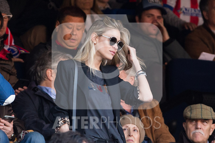 Carla Pereyra during the match of Spanish La Liga between Atletico de Madrid and Futbol Club Barcelona at Vicente Calderon Stadium in Madrid, Spain. February 26, 2017. (Rodrigo Jimenez / ALTERPHOTOS)