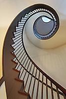 Spiral stairway, Shaker Village of Pleasant Hill, Kentucky