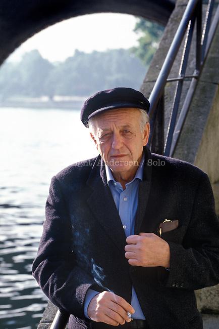 Francesco Biamonti, Italian writer in 1996.